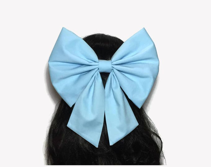 Featured listing image: Blue Ariel Cosplay Hair Bow