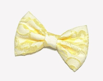 Yellow Lace Hair Bow
