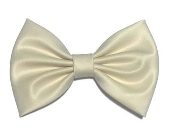 Beige Hair Bow