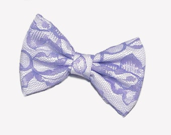 Lavender Lace Hair Bow