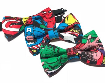 Avengers  Bow Tie. Choose The Hulk, Spiderman or Captain America
