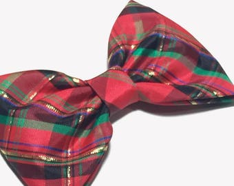 Holiday Bows For Girls, Red Plaid Bow, Christmas Headband Toddler, Holiday Bows For Baby, Christmas Bow For Girls, Holiday Hair Clips, Girls