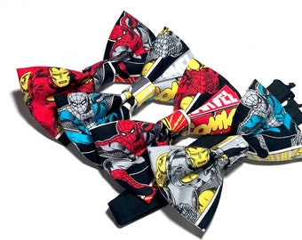 Spider Man or Iron Man Bow Tie