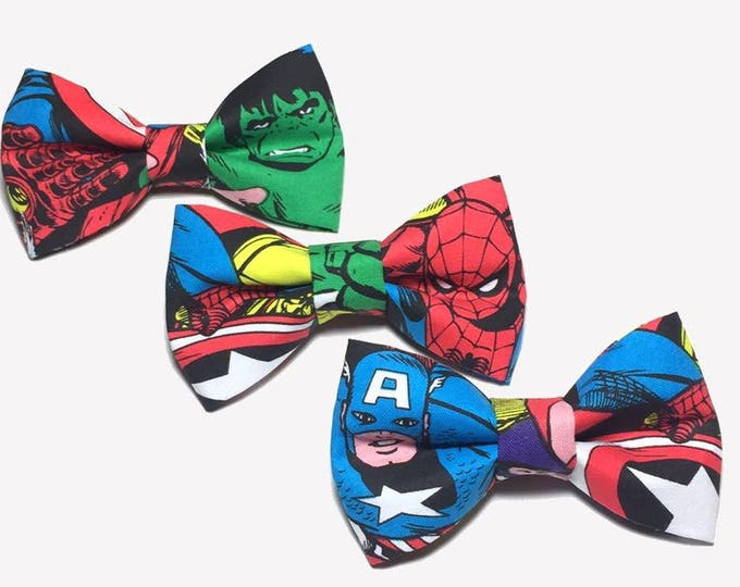 Featured listing image: Avengers  Bow Tie. Choose The Hulk, Spiderman or Captain America