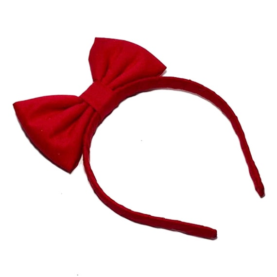 Girl School Red Velvet Bow Snow white Party Christmas head Hair band Headband