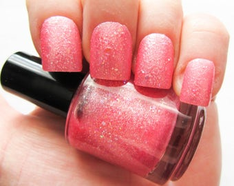 Kawaii Pink Nail Polish // Glitter Nail Polish // Glitter // Pink // Kawaii // Iridescent // Indie Polish // Vegan Friendly // Nail Polish