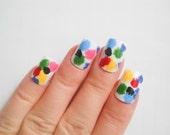 Items Similar To Artsy Paint Splatter Nails Fake Nails False Nails