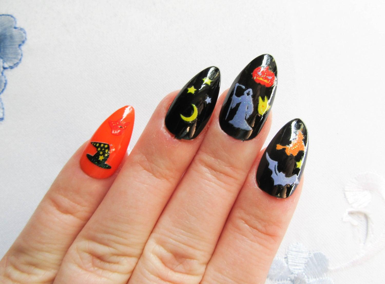 Halloween Nails / Fake Nails / Stiletto Nails / Press on Nails ...