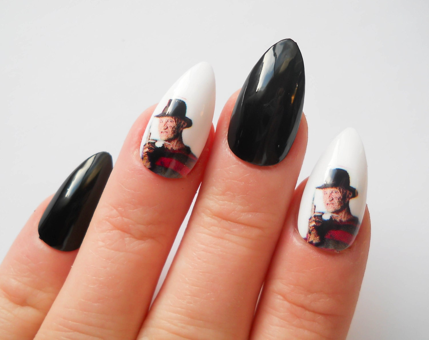 Freddy Krueger Stiletto Nails, Fake Nails, False Nails, Acrylic ...
