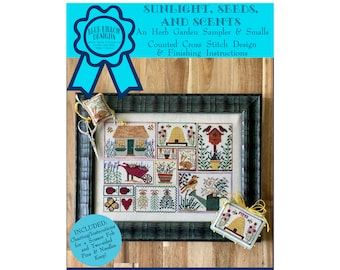 Sunlight, Seeds, and Scents (BRD-123) Counted Cross Stitch Chart – Digital Pattern PDF