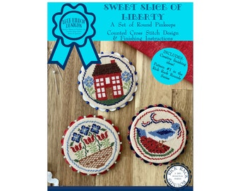 Sweet Slice of Liberty (BRD-121) Counted Cross Stitch Chart – Digital Pattern PDF Download