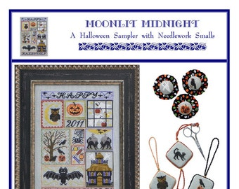 Moonlit Midnight (BRD-101) Cross Stitch Design