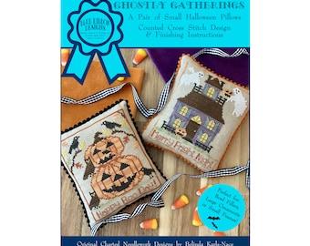 Ghostly Gatherings (BRD-124) Counted Cross Stitch Chart – Digital Pattern PDF