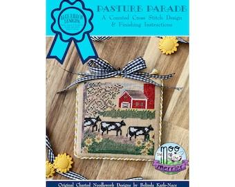 Pasture Parade (BRD-118) Counted Cross Stitch Chart – Digital Pattern PDF Download