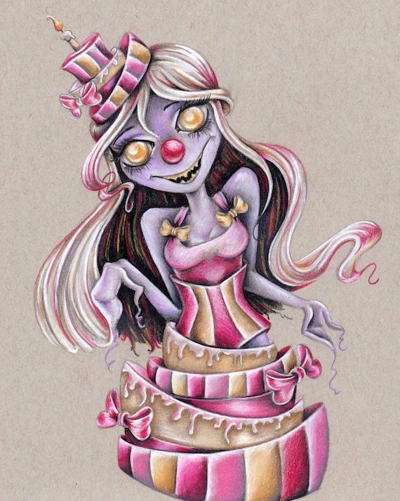 Cake Monster 8x10 Art Print
