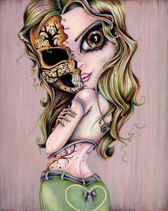 Skull Lady #2 8x10 Art Print