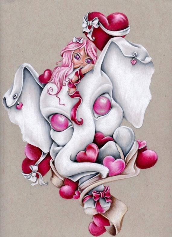 """Elli Love 8""""x10"""" Art Print"""