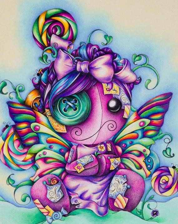 "Butterfly Doll Art Print- 8"" x 10"""