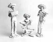 Calavera, Mariachi Band, Dia De Los Muertos, Day of the Dead, Altar Decoration, Mexican Decor, Calavera Statue, Mexican Decor, Sugar Skull,