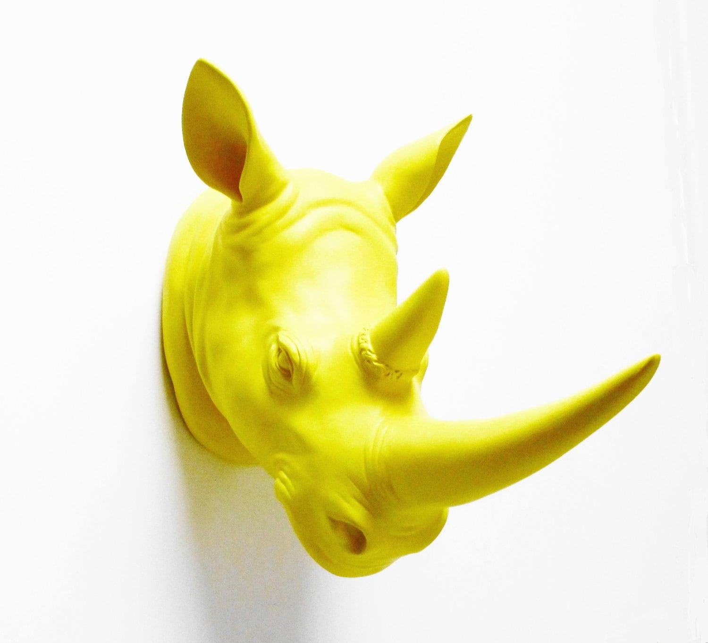 Rhino Wall Mount Faux Rhino head Rhino Head Faux Taxidermy | Etsy