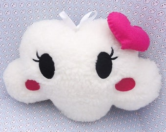Pretty white girl embroidered cloud cushion