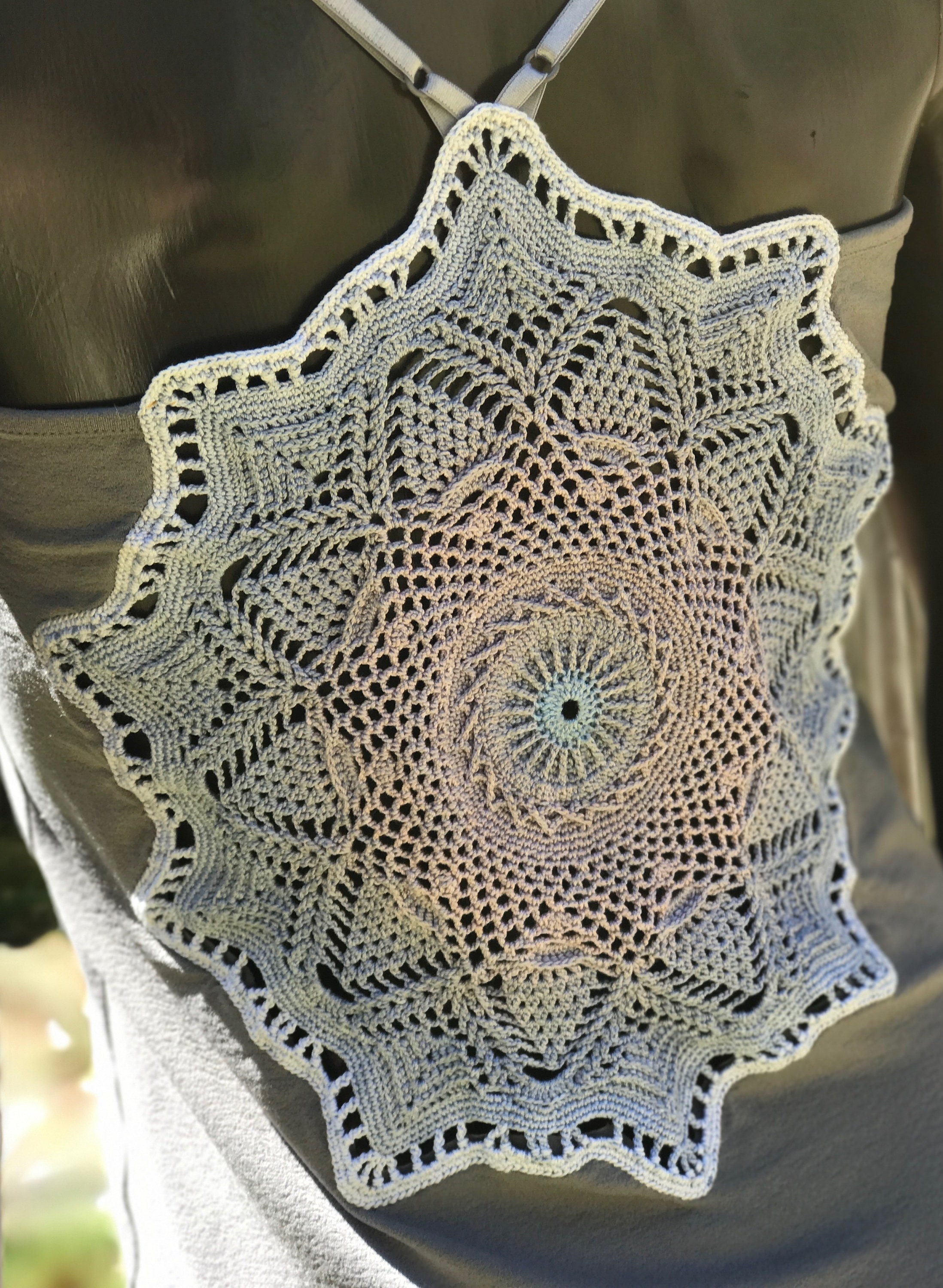 Crocheted Mandala Blouse By Challenge Convention Etsy