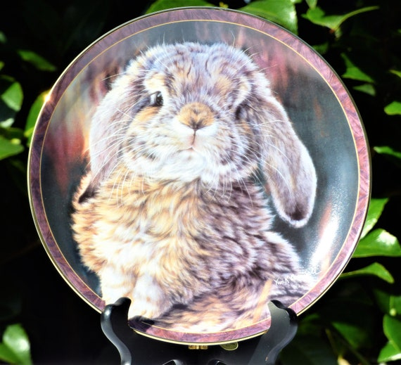 Footloose Bradford Exchange Plate Bunny Tales Collection by Vivi Crandall