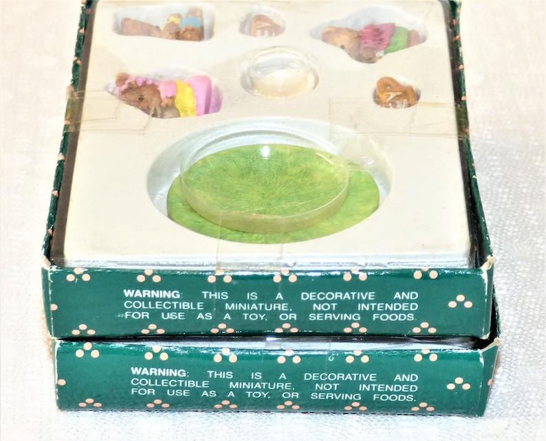 1993 Summco International Ltd Two Miniature SetsRabbit Miniature and Bear Miniature Sets