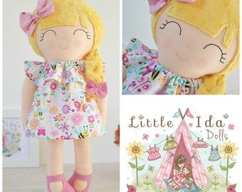 17inch (43cm) Soft Cloth Doll - Handmade Doll - Fabric Doll - Modern Rag Doll - Girl Doll - girl gift