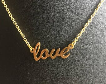 "16"" 'love' necklace."