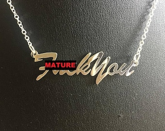 "16"" 'F-ck You' necklace (MATURE)"