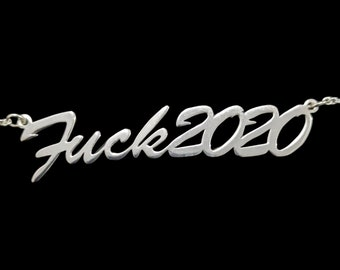 """16"""" 'Fuck2020' necklace (CLEARANCE)"""