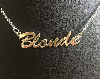 "16"" 'Blonde' necklace"