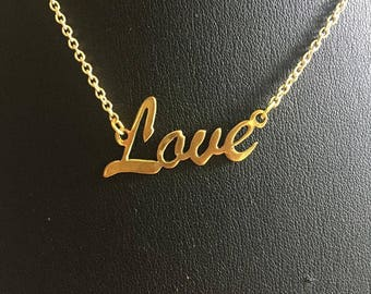 "16"" 'Love' necklace"