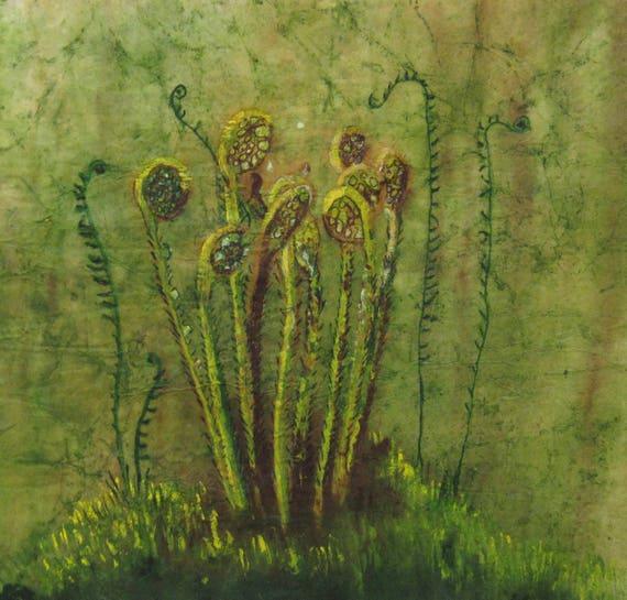 Fiddlehead Fern Giclee Print From Original Painting, Choose Size