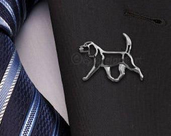Beagle movement brooch - sterling silver.
