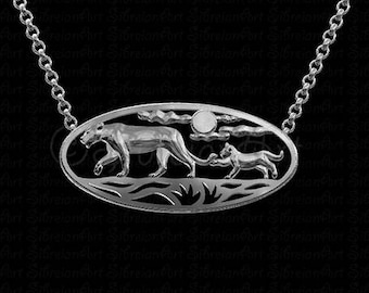 African Sunset - sterling silver pendant and necklace