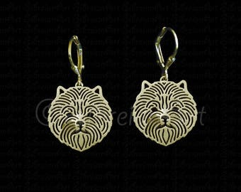 Cairn Terrier earrings - Gold