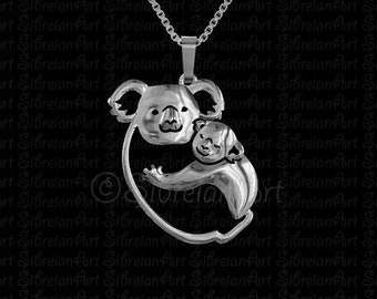 Koala hug - sterling silver pendant and necklace - all profits will be donated to Australian wildlife rescue.