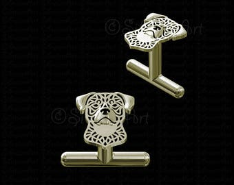 925 sterling silver Rotweiller Cufflinks MADE IN ENGLAND