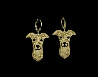 Italian Greyhound earrings - Gold