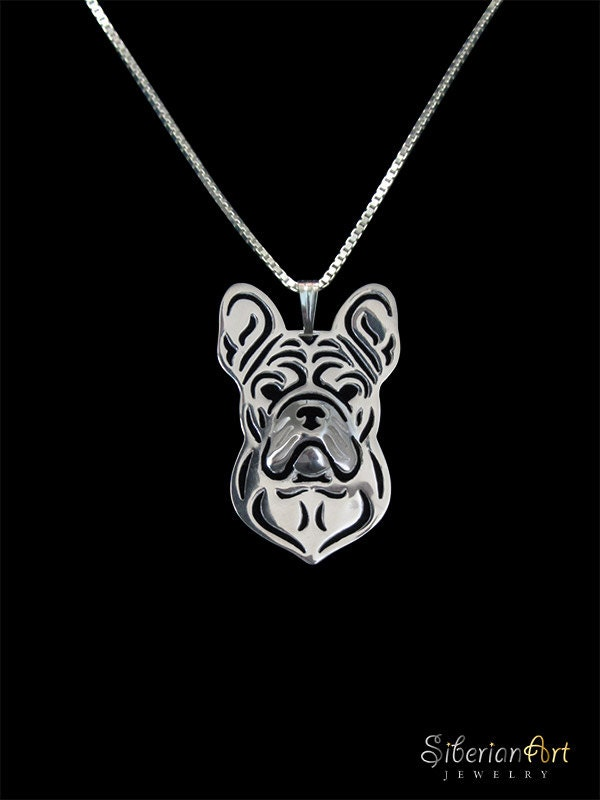 French Bulldog Jewelry Sterling Silver Pendant And
