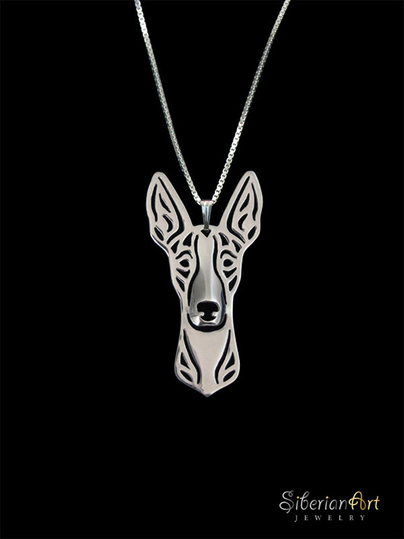 Ibizan Hound  sterling silver pendant and necklace image 0