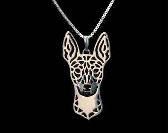 Rat Terrier - sterling silver pendant and necklace.