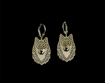 Wolf earrings -  gold.