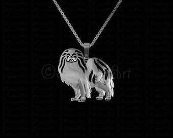 Japanese Chin jewelry - sterling silver pendant and necklace.