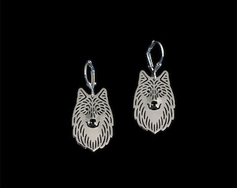 Wolf earrings - sterling silver