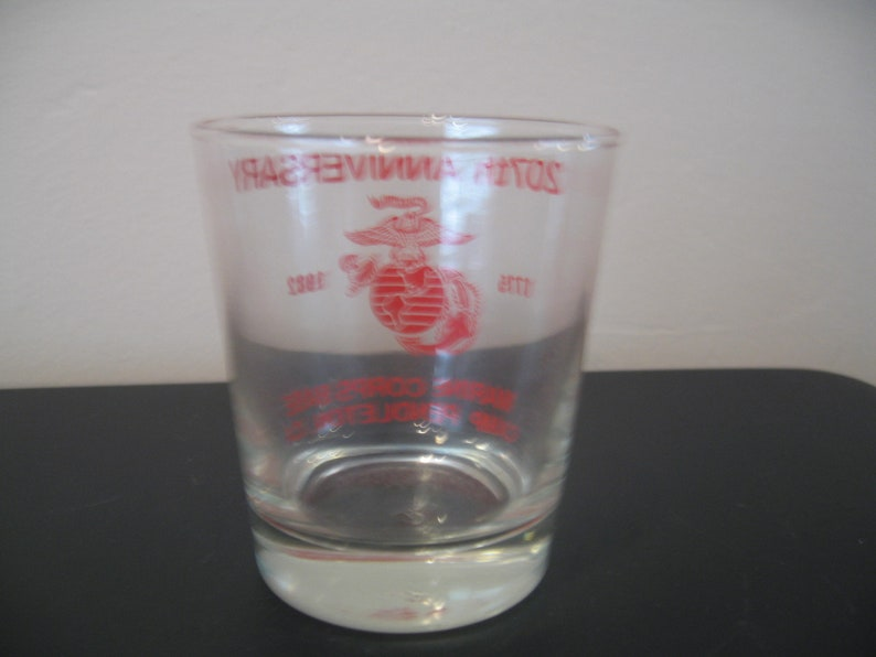 CA From 1982 Camp Pendleton Vintage 207th Anniversary Glass; Marine Corps Base
