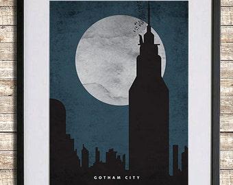 Batman Gotham City Poster Print