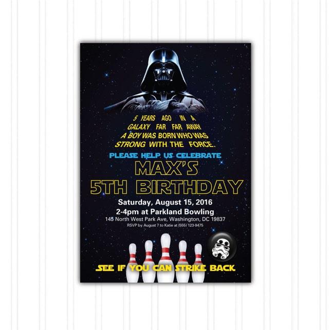 Star wars bowling birthday invitation printable download print etsy image 0 filmwisefo